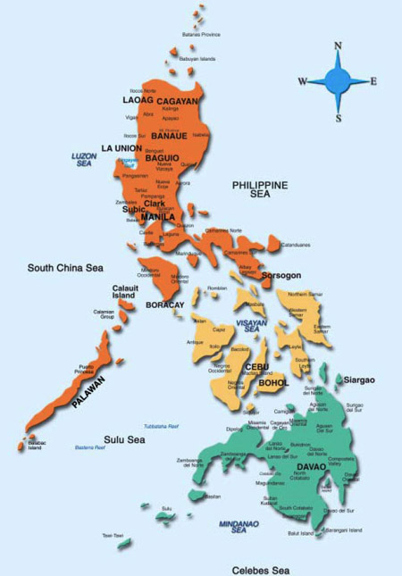 mindanao visayas philippines map, wiring diagram, where is china located on the world map